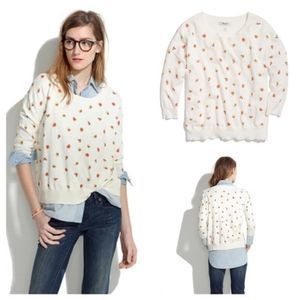 Madewell Studio Sweater In Pansy Size Small